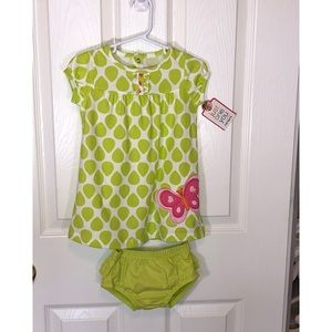 Just One You Baby Girls 12 Mo Lime Green Dress